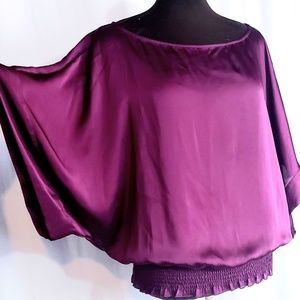 APOSTROPHE SATIN TOP